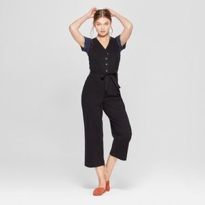 NWT Universal Thread Button Fr Wide leg Jumpsuit